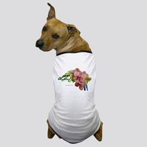 Orange Orchids White Background copy Dog T-Shirt