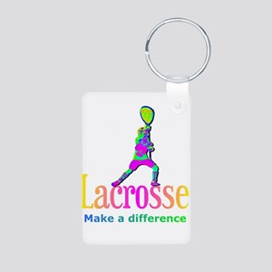 Lacrosse Goalie Make A Difference Keychains