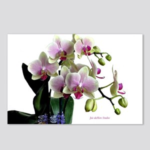 Watercolor Orchids White copy Postcards (Package o