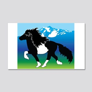 Pinto Icelandic horse 20x12 Wall Decal