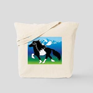 Pinto Icelandic horse Tote Bag