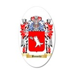 Bessette 35x21 Oval Wall Decal