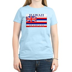 Hawaii Hawaiian State Flag Women's Pink T-Shirt