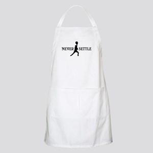 Lacrosse Goalie Never Settle Black and White Apron