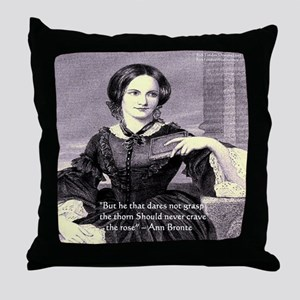 Anne Bronte Throw Pillow