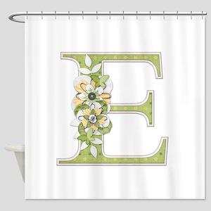 Monogram Letter E Shower Curtain