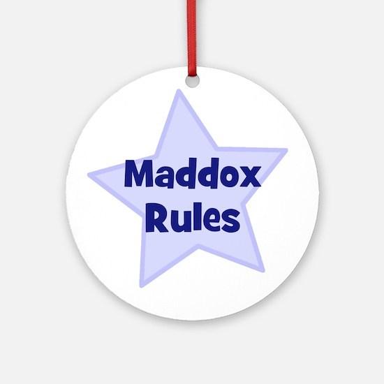 Maddox Rules Ornament (Round)