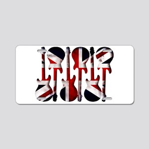 British Flag Guitar Art Aluminum License Plate