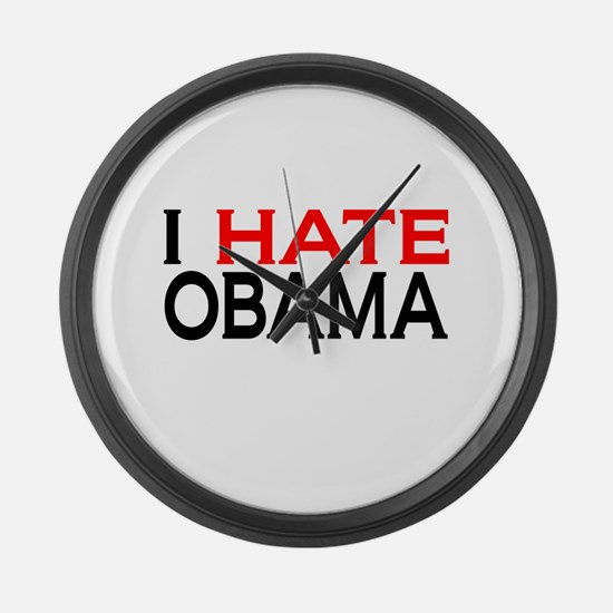 IHateObama Large Wall Clock