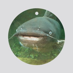 Curious Catfish Ornament (Round)