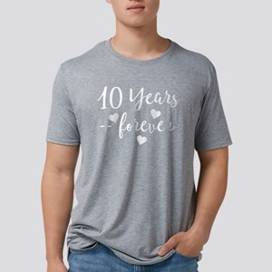 10th Anniversary Couples Gift Mens Tri-blend T-Shi