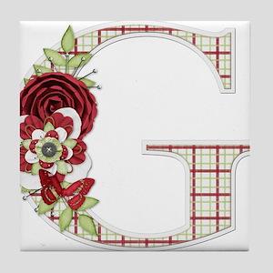 Monogram Letter G Tile Coaster
