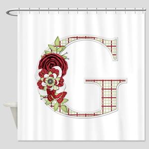 Monogram Letter G Shower Curtain