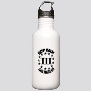 Keep Calm and Three On Water Bottle
