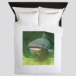 Curious Catfish Queen Duvet