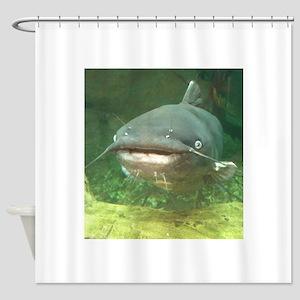 Curious Catfish Shower Curtain