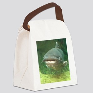Curious Catfish Canvas Lunch Bag