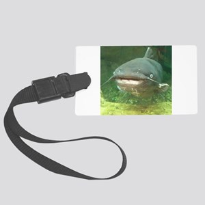 Curious Catfish Luggage Tag
