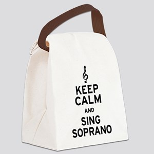 Keep Calm Sing Soprano Canvas Lunch Bag