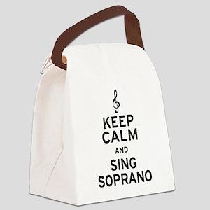 Keep Calm Sing Soprano Canvas Lunch Bag