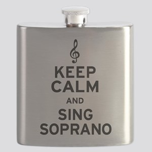 Keep Calm Sing Soprano Flask