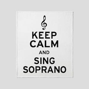 Keep Calm Sing Soprano Throw Blanket