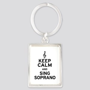 Keep Calm Sing Soprano Portrait Keychain