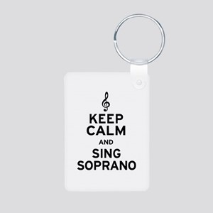 Keep Calm Sing Soprano Aluminum Photo Keychain