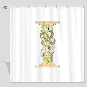 Monogram Letter I Shower Curtain