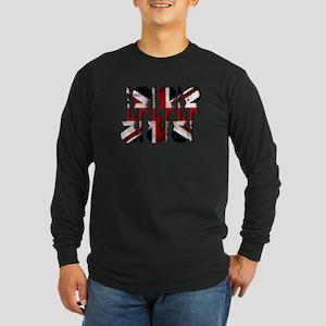 British Flag Guitar Art Long Sleeve T-Shirt