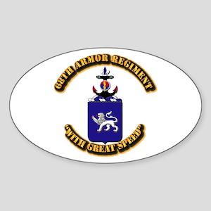 COA - 68th Armor Regiment Sticker (Oval)