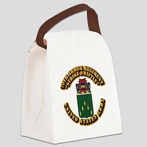 COA - 70th Armor Regiment Canvas Lunch Bag