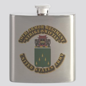 COA - 70th Armor Regiment Flask