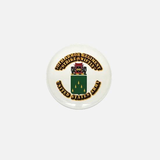 COA - 70th Armor Regiment Mini Button