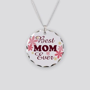Best Mom Ever fl 1.2 Necklace Circle Charm