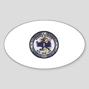 Korea Oval Sticker