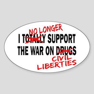 I No Longer Support Oval Sticker