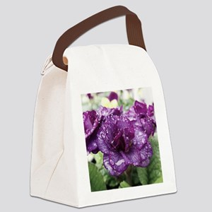 Raindrops Canvas Lunch Bag