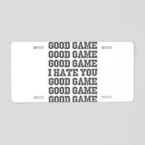 Good Game Aluminum License Plate