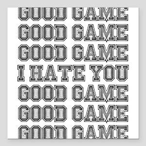 "Good Game Square Car Magnet 3"" x 3"""