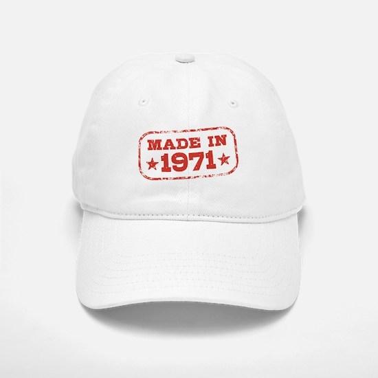 Made In 1971 Baseball Baseball Cap