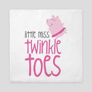 Little Miss Twinkle Toes Queen Duvet