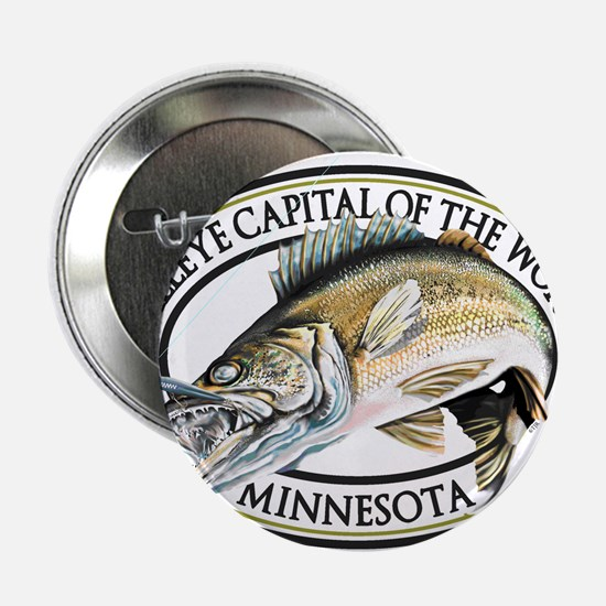 """Walleye Capital of the World 2.25"""" Button"""