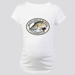 Walleye Capital of the World Maternity T-Shirt