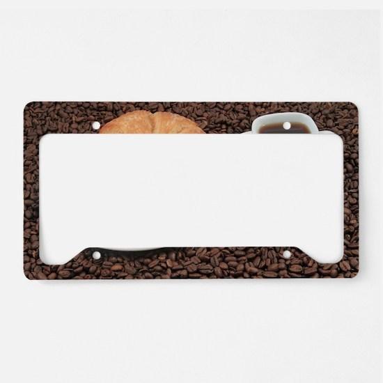 Cute Espresso License Plate Holder
