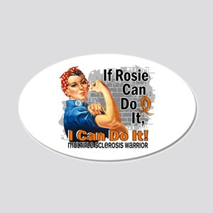 If Rosie Can Do It MS 20x12 Oval Wall Decal