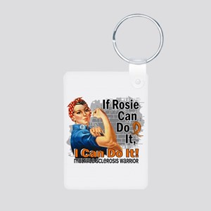 If Rosie Can Do It MS Aluminum Photo Keychain