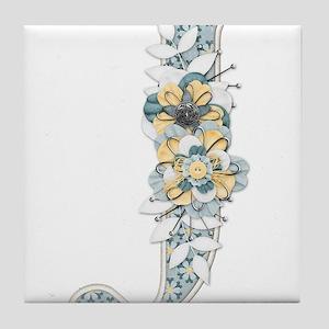 Monogram Letter J Tile Coaster