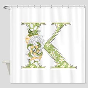 Monogram Letter K Shower Curtain
