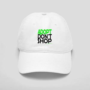 ADOPT DONT SHOP - green Baseball Cap